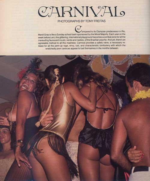 ビンテージ ペントハウス 1983年3月 Carnival by Tony Freitas