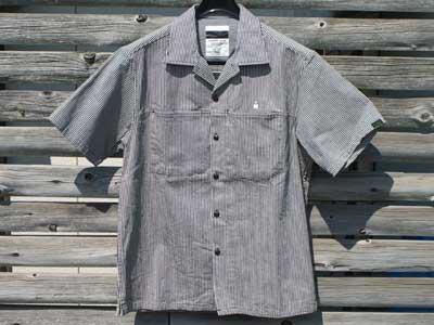 新品 半袖シャツ Sale/MEDIUM RARE/ヒッコリー・ストライプ Work shirts