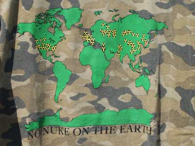dub factory S/S Tee/NO NUKE ON THE EARTH