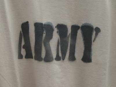 新品 ARMY ステンシル 半袖Tシャツ