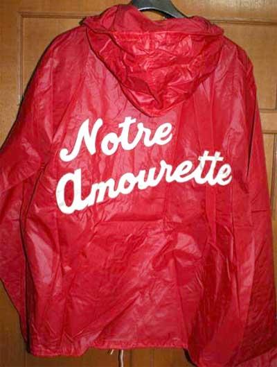 IZOD ラコステ Notre Amourette ナイロン製のハーフジップ・プルオーバー・パーカー