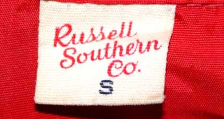 1950's Russell Southern Co 50年代 Wネームタグ