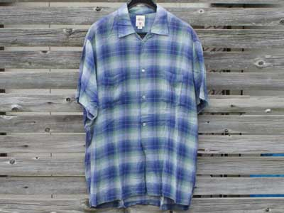 Used STUSSY Rayon Check S/S shirts