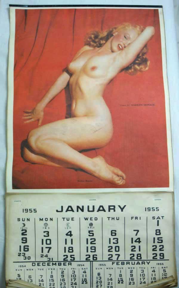 Antique 1950年代 オリジナル マリリンモンロー ヌード カレンダー