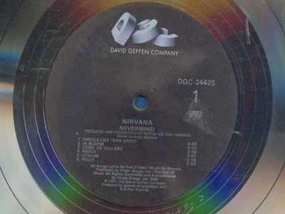 NIRVANA NEVERMIND Platinum Disk