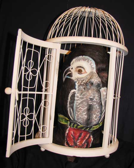 Antique Used Bird Cage face paint