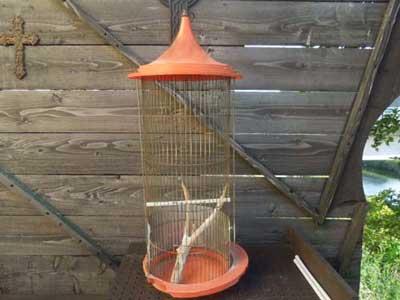 Antique Used Bird Cage アンティーク物の鳥カゴ
