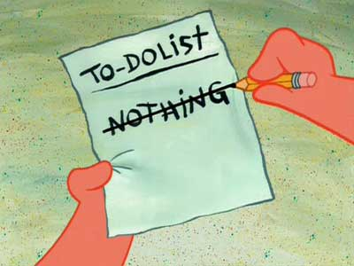 thing to do list/nothing