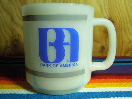 Glasbake ad mug /BANK OF AMERICA