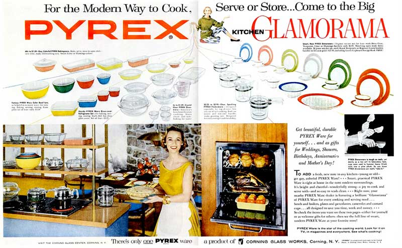 1955 PYREX  Thanksgiving ads