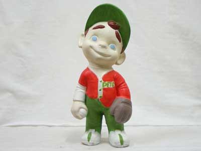 Antique Objet/70年代 陶器製の人形/野球少年 SMILEY
