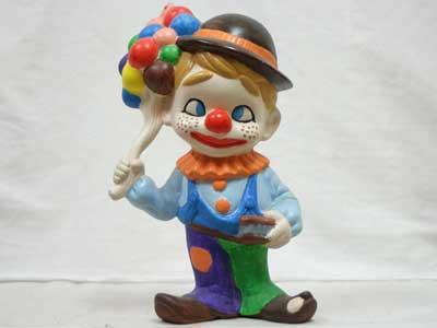 Antique Objet/70年代 陶器製の人形/ピエロ