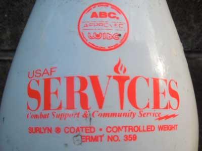Vintage ボーリングピン アメリカ・ボウリング協会公認のUSAF SERVICES