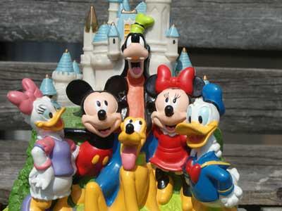 Antique Toy/ディズニー シンデレラ城 & キャラクター貯金箱