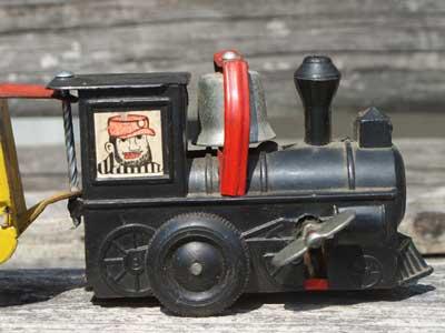 Antique ブリキ製の汽車のオモチャ