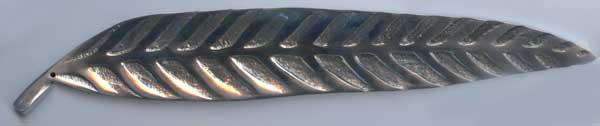リーフ型のアルミ製 のお香立て