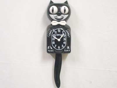 動く猫の壁掛け時計 Kit Cat Klock!!!