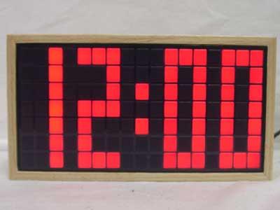 Wood・LED Table Clock