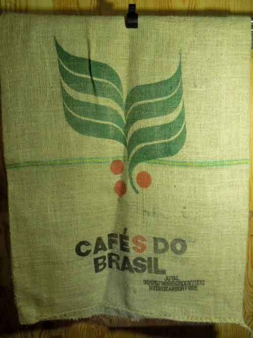 ジュート製 ブラジルのコーヒー豆 麻袋