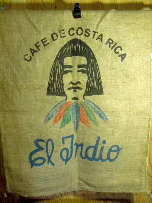ジュート製 コスタリカのコーヒー豆 麻袋