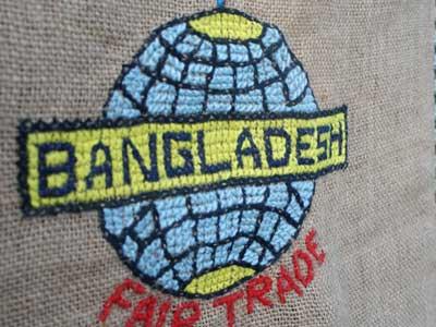 People Tree ジュートのバングラディシュの刺繍製の地図