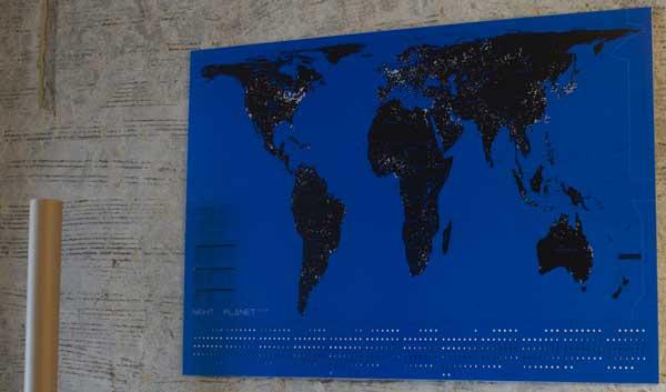 2009年 Lbtd カレンダー/Night Planet(夜景地図)