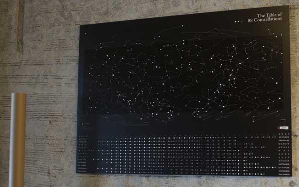 2009年 Lbtd カレンダー/The Table of the 88 Constellations(全天88星座図)
