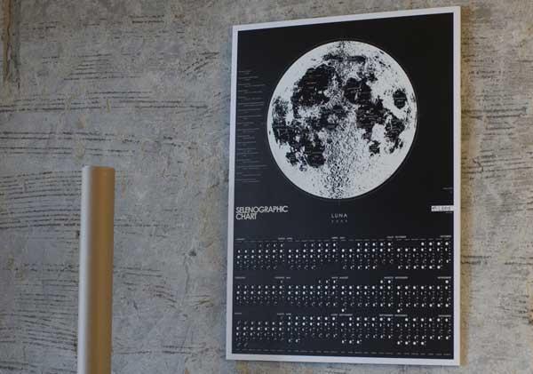 2009年 Lbtd カレンダーLuna-Selenographic Chart(月面図)